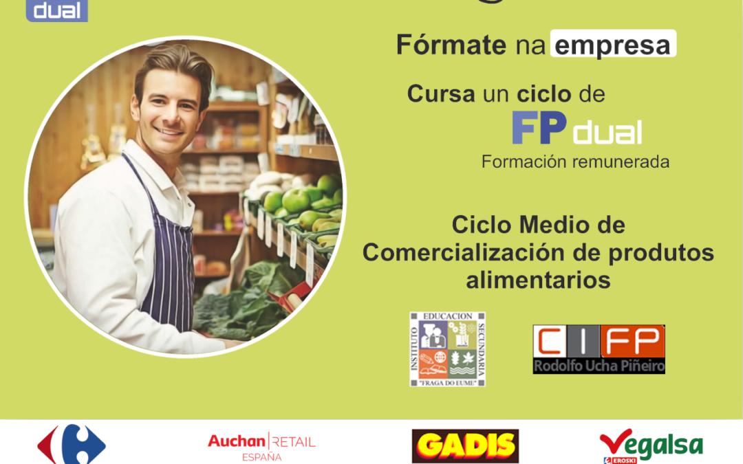Cartel anuncio FP Dual - CM Comercialización Produtos Alimentarios