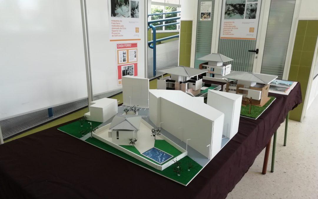 Mostra de maquetas elaboradas polo alumnado do Ciclo Superior de Proxectos de Edificación