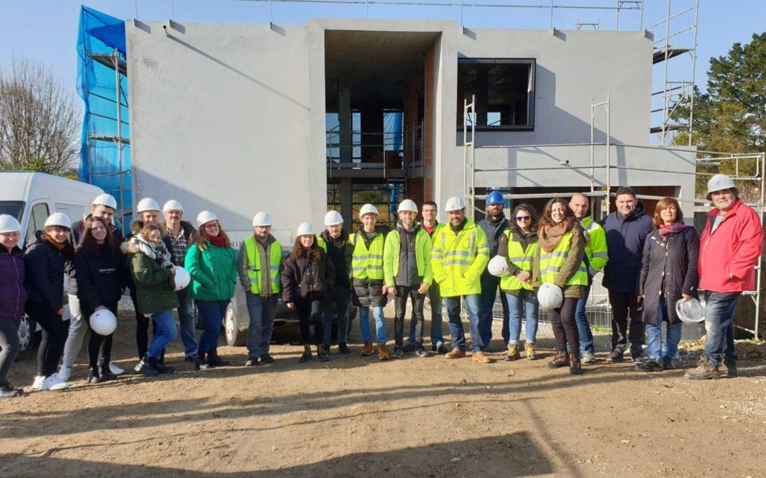 Visita do alumnado do CS de Proxectos  de Edificación á construcción dunha vivenda «Passivhaus»