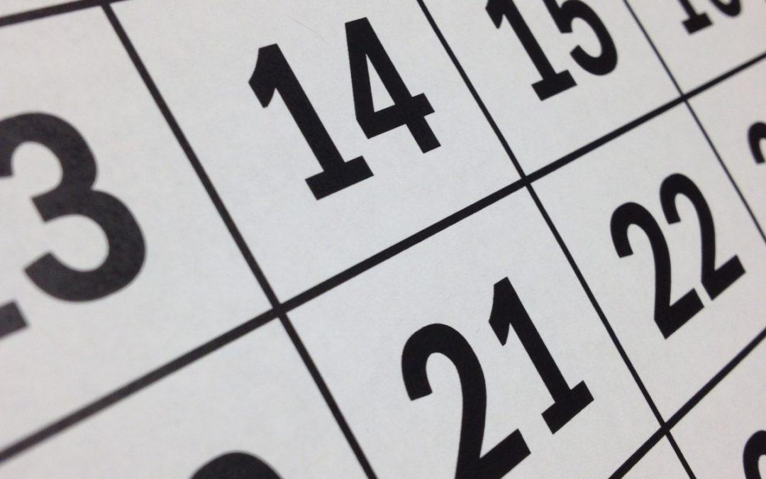 Calendario de exames finais – Xuño 2021